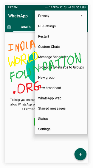 Indiaworldfoundation.org What is GB WhatsApp